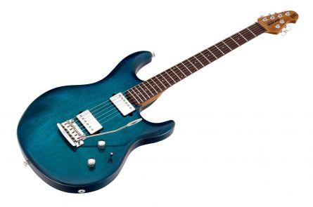 Music Man USA Luke III HH NB - PDN Neptune Blue Roasted Neck Limited Edition RW