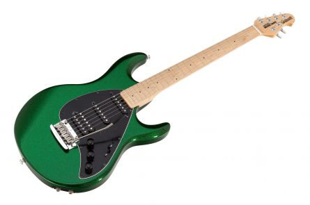 Music Man USA Silhouette Special HSS Trem Piezo ES - PDN Emerald Green Sparkle Limited Edition MN