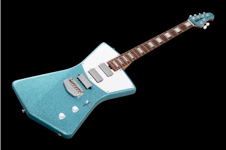 Music Man USA St. Vincent HHH Guitar BFR Turquoise Crush - Roasted Birdseye MH - Limited Edition