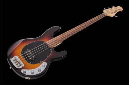 Music Man USA Stingray 4 SLO Special Lined Fretless VSB - Vintage Sunburst