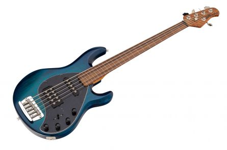 Music Man USA Stingray 5 HS Lined Fretless NB - PDN Neptune Blue Limited Edition PV