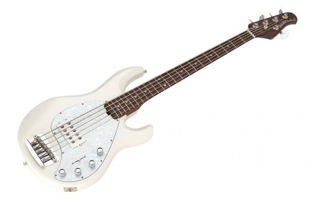 Music Man USA Stingray 5 WH - White - Rosewood Neck Limited Edition
