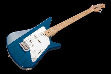 Music Man USA Albert Lee SSS Trem TB - Translucent Blue - 1pc body PV - 3.2 kg!