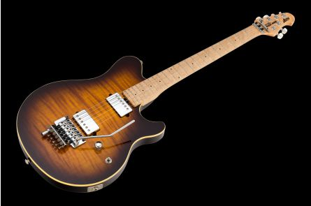 Music Man USA Axis TB - Tobacco Burst FT All-Chrome Hardware Limited Edition incl. D-Tuna