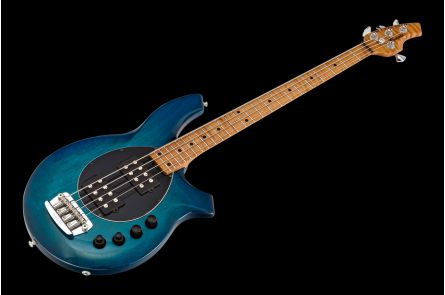 Music Man USA Bongo 4 HH NB - PDN Neptune Blue Roasted Neck Limited Edition MN PV