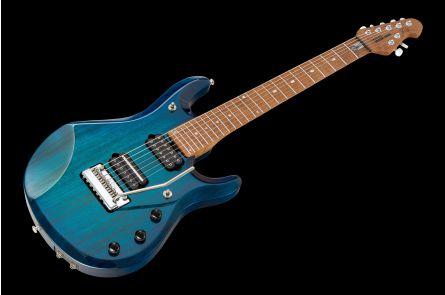 Music Man USA John Petrucci JP7 Piezo NB - PDN Neptune Blue Roasted Neck Limited Edition MN JP Inlays