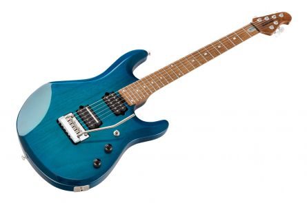 Music Man USA John Petrucci JP6 NB - PDN Neptune Blue Roasted Neck Limited Edition MN JP Inlays