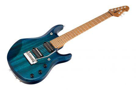 Music Man USA John Petrucci JP7 Piezo NB - PDN Neptune Blue Roasted Neck Limited Edition MN - 1-pc body PV