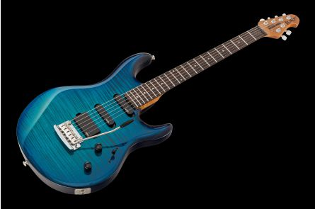 Music Man USA Luke BFR FT NB - PDN Neptune Blue Roasted Neck Limited Edition RW