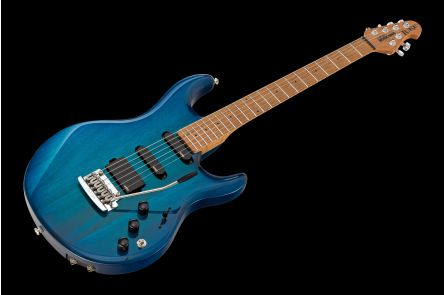 Music Man USA Luke Piezo NB - PDN Neptune Blue Roasted Neck Limited Edition MN