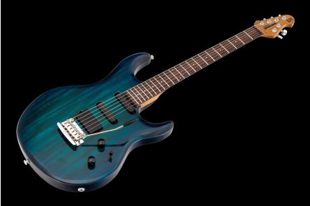 Music Man USA Luke III HSS NB - PDN Neptune Blue Roasted Neck Limited Edition RW - 1-pc body PV