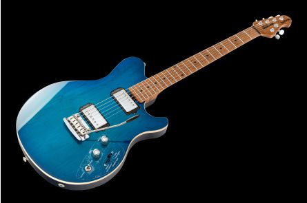 Music Man USA Reflex HH Trem Guitar NB - PDN Neptune Blue Roasted Neck Limited Edition MN