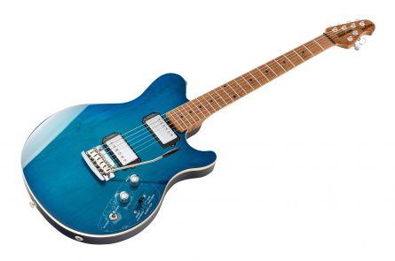 Music Man USA Reflex HH Trem Guitar NB - PDN Neptune Blue Roasted Neck Limited Edition MN
