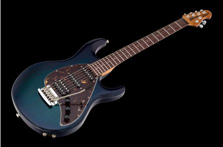 Music Man USA Silhouette Special HSS Trem Piezo NB - PDN Neptune Blue Roasted Neck Limited Edition RW