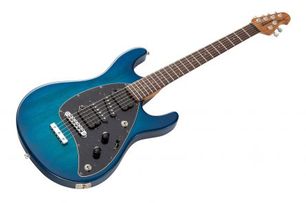 Music Man USA Steve Morse STD NB - PDN Neptune Blue Roasted Neck Limited Edition RW