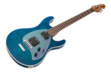 Music Man USA Steve Morse Y2D STD NB - PDN Neptune Blue Roasted Neck Limited Edition RW PV