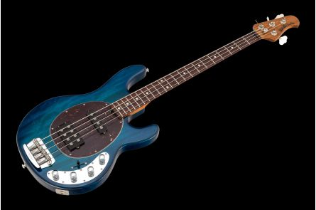 Music Man USA Stingray 4 HS NB - PDN Neptune Blue Roasted Neck Limited Edition RW - 1-pc body PV