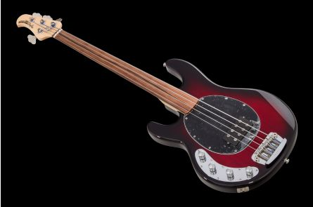 Music Man USA Stingray 4 Lefthand Fretless BCB - Black Cherry Burst
