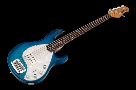 Music Man USA Stingray 5 NB - PDN Neptune Blue Roasted Neck Limited Edition RW