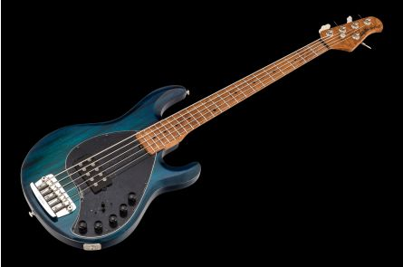 Music Man USA Stingray 5 Piezo NB - PDN Neptune Blue Roasted Neck Limited Edition MN - 1-pc body