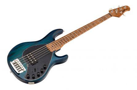 Music Man USA Stingray 5 Piezo NB - PDN Neptune Blue Roasted Neck Limited Edition MN - 1-pc body