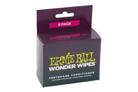 Ernie Ball 4276 Wonder Wipes Fretboard Conditioner 6 Pack