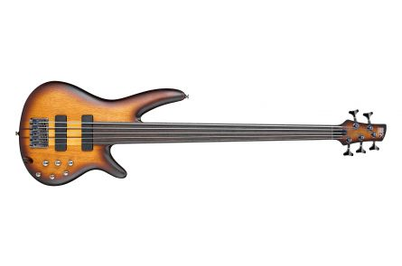 Ibanez SRF705 BBF Bass Workshop - Brown Burst Flat - Fretless - b-stock