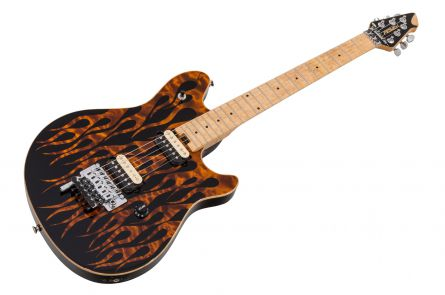 Peavey Wolfgang USA Custom Shop Special FR - Amber Flames on Quilted Maple & Birdseye