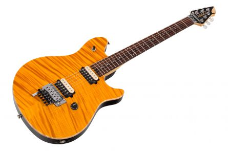 Peavey Wolfgang USA Special FM FR - Transparent Amber - rosewood fb