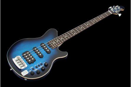 Music Man USA Reflex 4 HSS Bass PBB - Pacific Blue Burst RW