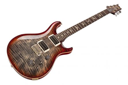 PRS USA Custom 24 Experience 10-Top Y8 (CY) - Charcoal Cherry - Stained Maple Neck
