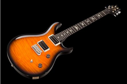 PRS USA CE 24 CC - Tri Color Sunburst - Custom Color EB FB Blackout Neck