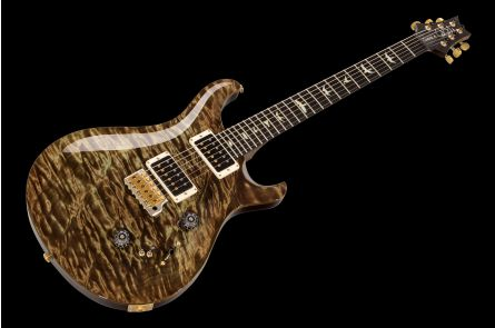 PRS USA Custom 24-08 Experience Wood Library T9 (MG) - Mash Green - 1-pc Quilt 10-Top