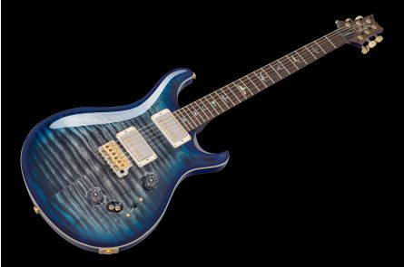 PRS USA Custom 24-08 Wood Library 10-Top QB - Charcoal Blueburst FM-Neck Ziricote 236689