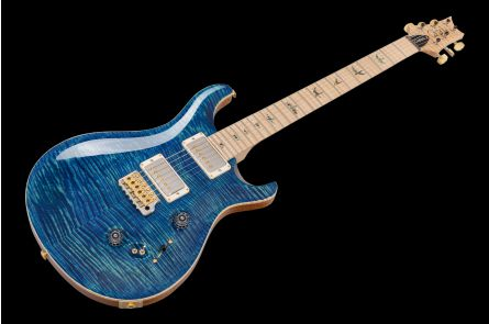 PRS USA Custom 24-08 Wood Library 10-Top RL - River Blue MN
