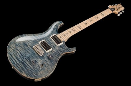 PRS USA Custom 24 10-Top FW - Faded Whale Blue - Flame Maple Neck