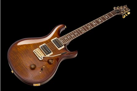 PRS USA Custom 24 10-Top Stain Flame Maple Neck Limited Edition BW - Black Gold Wraparound Burst