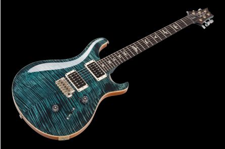 PRS USA Custom 24 Experience 10-Top Y9 (ST) - Slate Blue - Stained Maple Neck PV