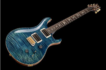 PRS USA Custom 24 Wood Library 10-Top V7 (RL) - River Blue - Stained Maple Neck