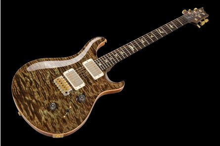 PRS USA Custom 24 Wood Library S1 (MG) - Mash Green Quilt 1-pc Artist Top & Neck PV