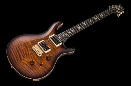 PRS USA Custom 24 Wood Library 10-Top KG - Black Gold Burst - Ebony FB - Hybrid HW