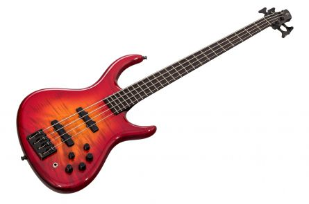 Schack Unique 4 Carbon Custom - Cherry Red Burst FM
