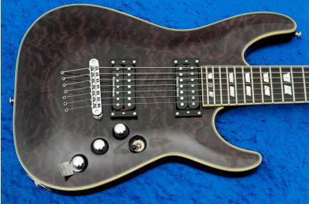 Schecter C-7 Custom STBLK - See Thru Black
