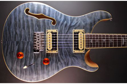 PRS SE Custom 22 Semi-Hollow Limited Edition - Whale Blue Natural Back