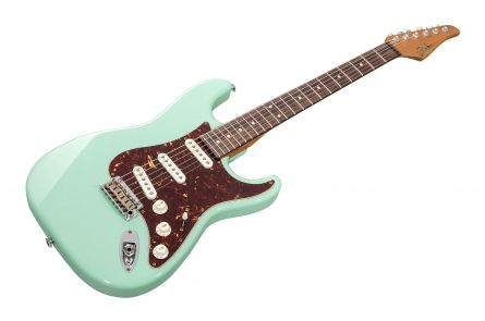 Suhr Classic S Antique Custom Shop SSS SG - Surf Green RW - Roasted Neck