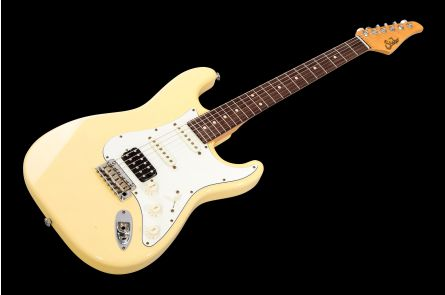 Suhr Classic S Antique HSS VY - Vintage Yellow RW