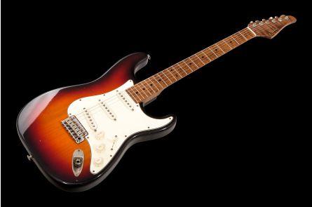 Suhr Classic S Antique SSS Custom Ltd Roasted Flamed Maple 3TB - 3 Tone Burst MN