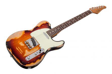 Suhr Mateus Asato Signature Classic T Antique 2TB - 2 Tone Burst RW - Extra Heavy Aging