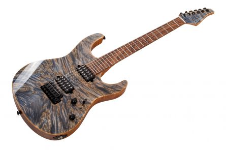 Suhr Modern Custom Burl Maple HH TBD - Trans Blue Denim Slate