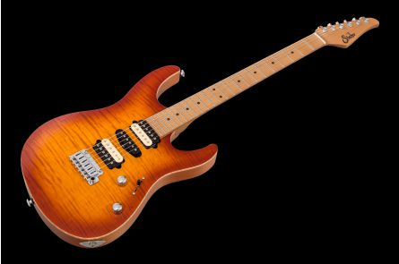 Suhr Modern Satin Flame HSH Ltd HB - Honey Burst MN JS3N4P